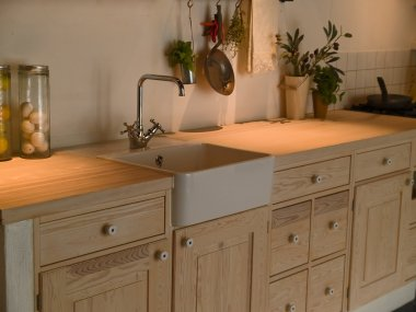 Modern neo classical design wooden country kitchen