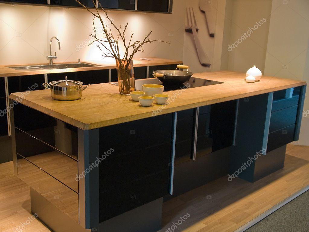 Modern Küche Schwarz Holz