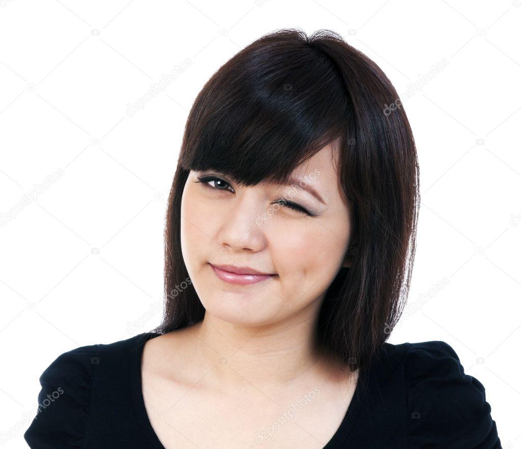 jolie jeune femme asiatique un clin de il photographie richmind 8556435. Black Bedroom Furniture Sets. Home Design Ideas
