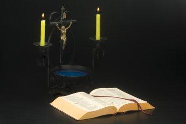 İncil'i İsa'nın arka plan ile açın
