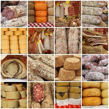 Italian delicatessen collage
