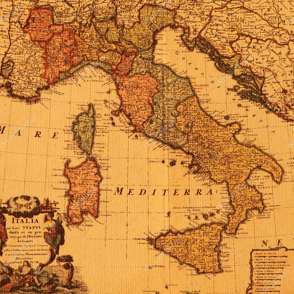 Antique map of italy stock photo malgorzatakistryn 8307028 old map of italy photo by malgorzatakistryn gumiabroncs Choice Image
