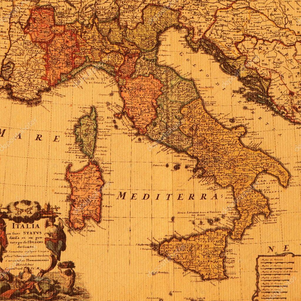 Gammal Karta Italien.Antika Karta Over Italien Stockfotografi C Malgorzata Kistryn 8307028