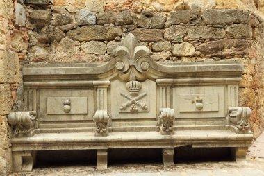 Ornamental antique bench