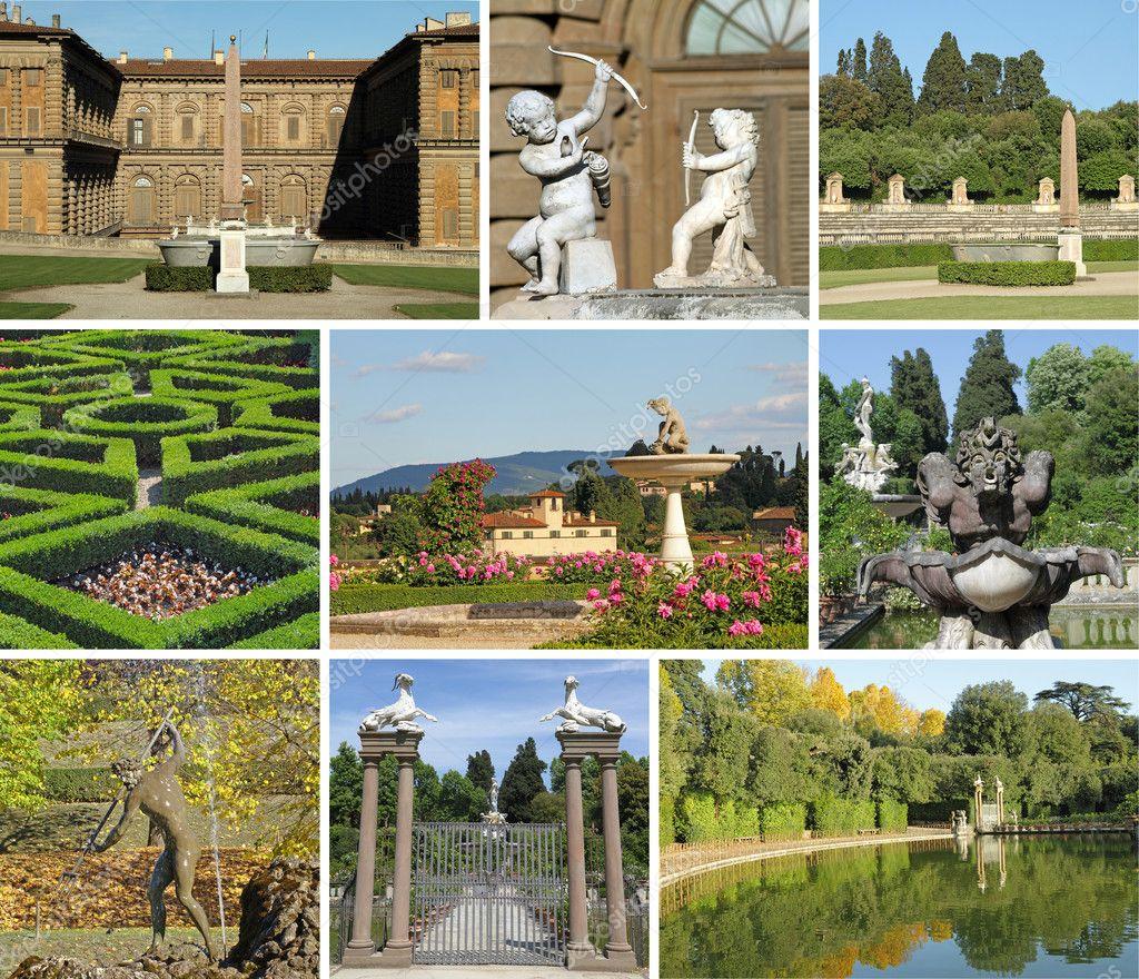 Italian garden collage