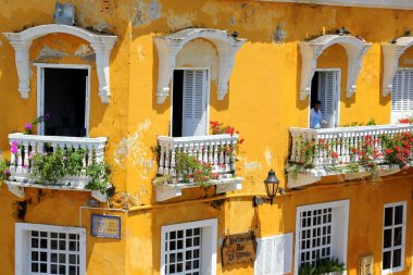 Balconies of Cartagena, Colombia