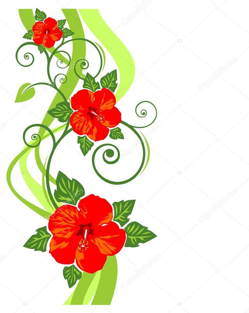 Dessin fleurs rouge image vectorielle tokhiti 10019633 - Fleurs en dessins ...