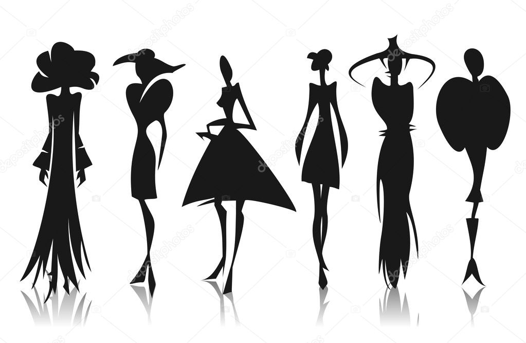 Ben noto sagome di donne — Vettoriali Stock © tokhiti #10303957 XD53