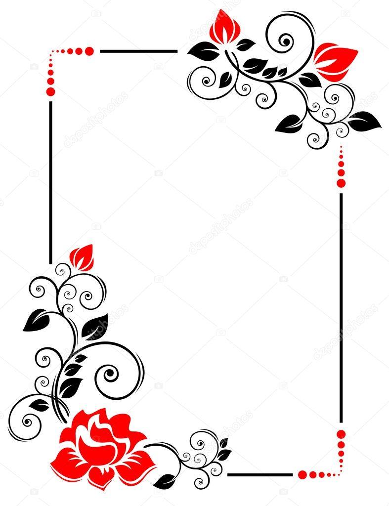 Rose Cornice Cornice Per Foto Matrimonio Foto Stock Taden1