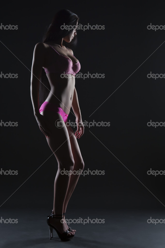 Sexy woman body in pink