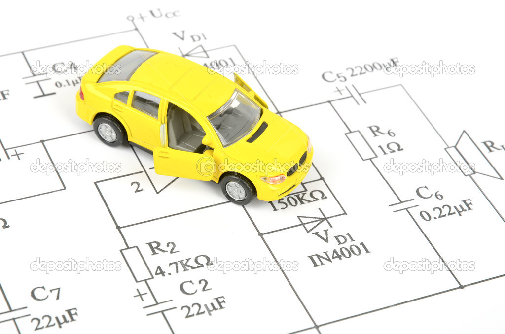 Circuit Diagram And Toy Car Stock Photo C Anaken2012 10028592