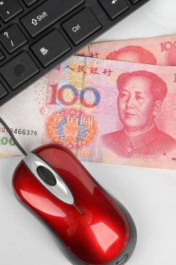 Computer mouse and chinese currency