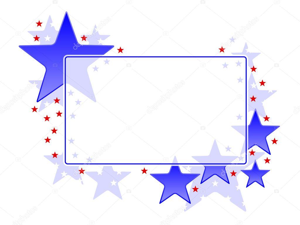 marco de estrellas — Vector de stock © bigldesign #8409262
