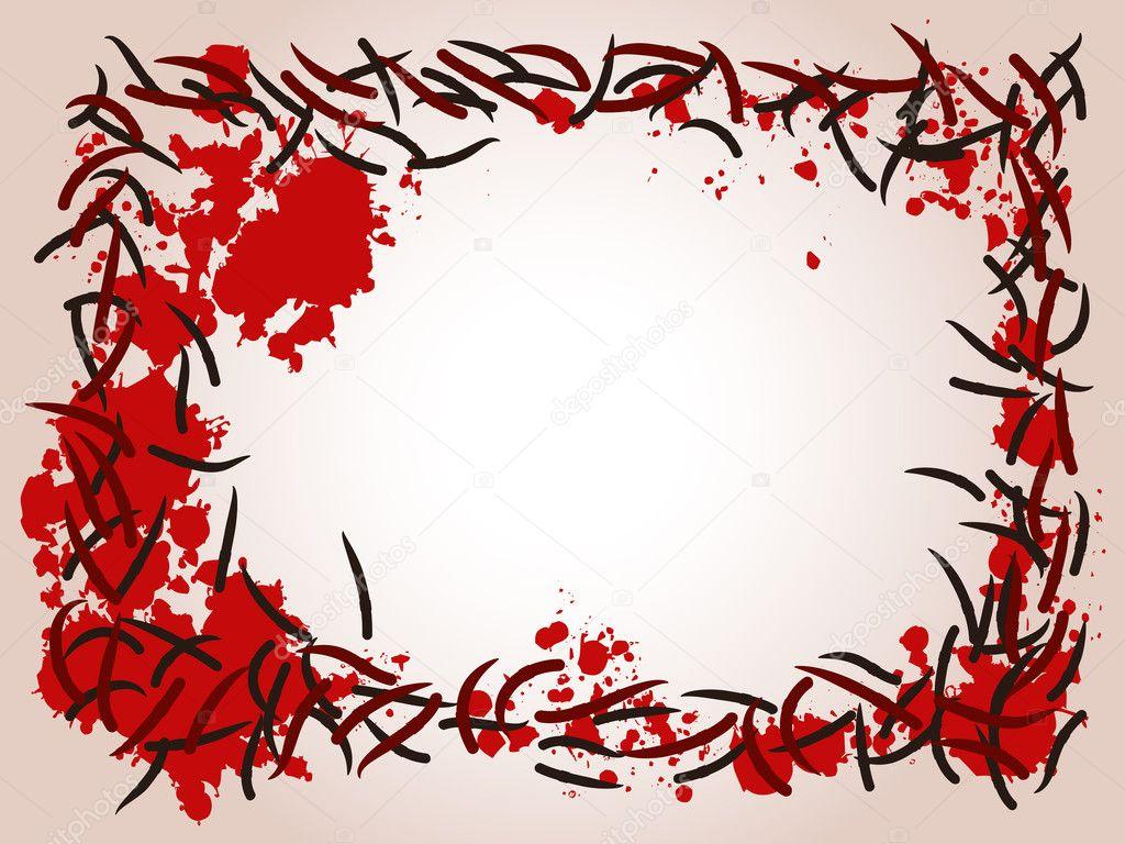 marco Leech y sangre — Archivo Imágenes Vectoriales © bigldesign ...