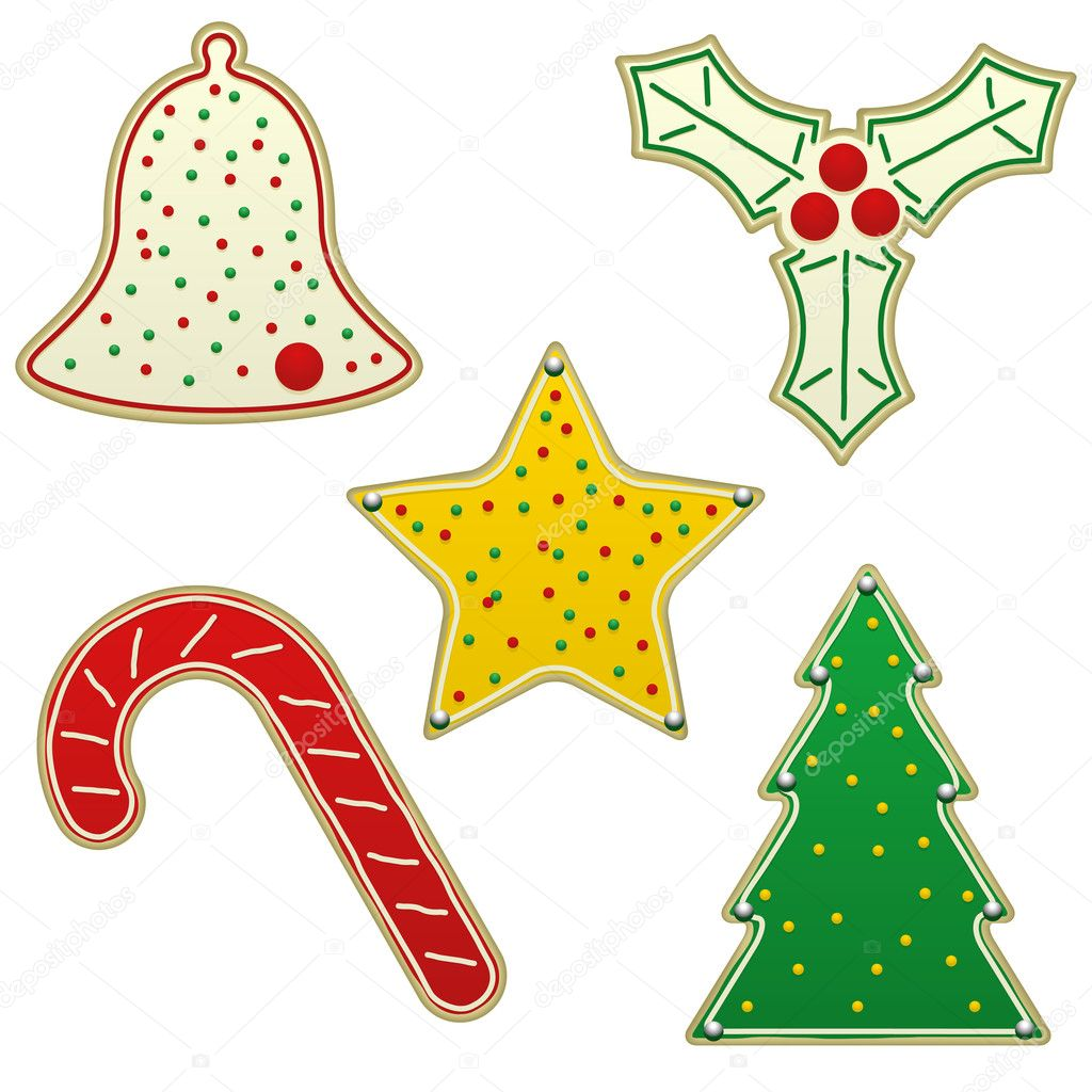 Christmas cookies — Stock Vector © bigldesign #8983317