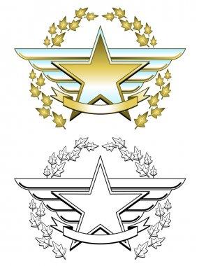 Chrome star medal