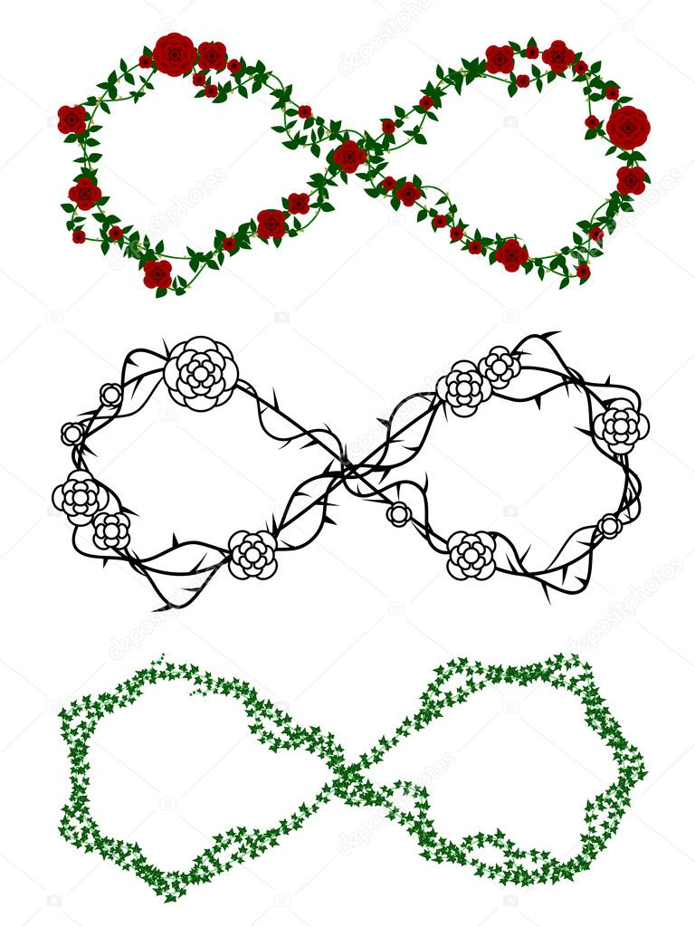 Infinity vines stock vector bigldesign 9325702 infinity symbols made out of rose and ivy vines vector by bigldesign biocorpaavc Gallery