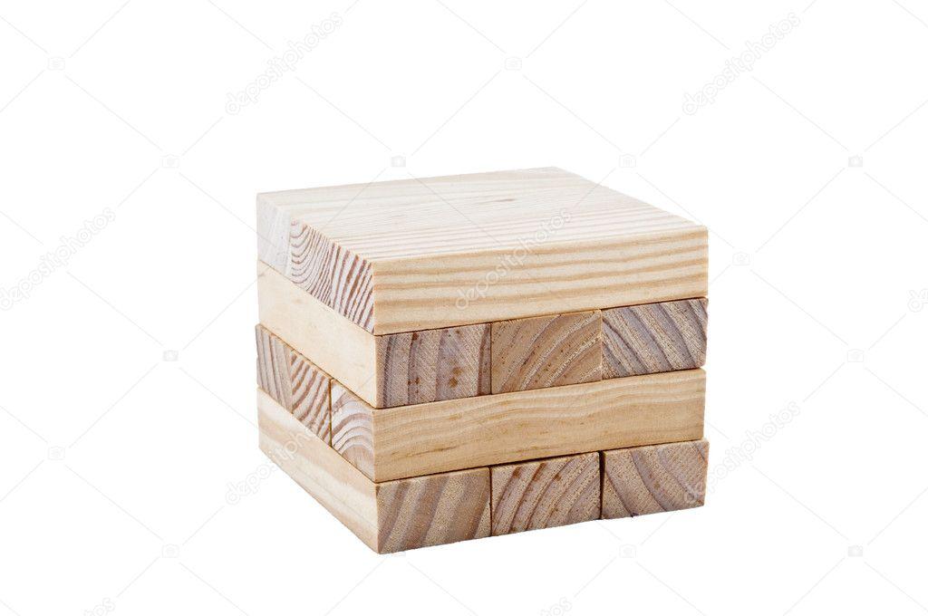 en bois fabriquer un cube — photo #8355564