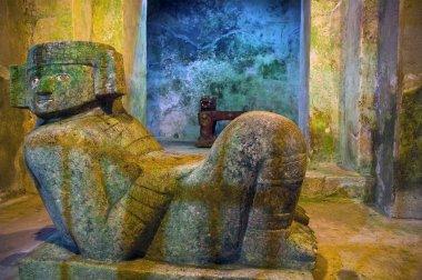 Jade Jaguar inside the pyramid at chichen itza