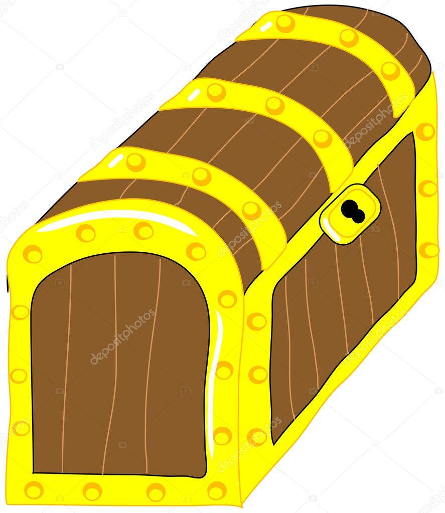 treasure chest vector clip art u2014 stock vector marcinska 8387043
