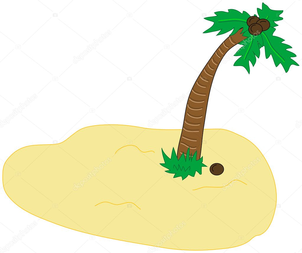 desert island vector clip art stock vector marcinska 8387060 rh depositphotos com desert clip art animals for diorama dessert clip art pictures