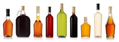 Set of Bottles isolated on white background
