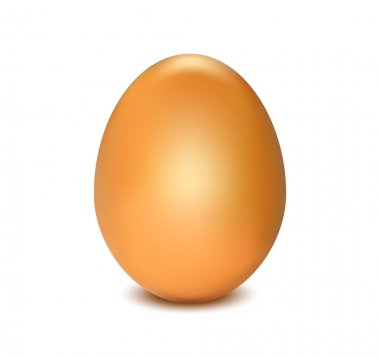 Standing straight brown chicken egg