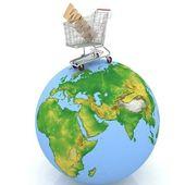 Fotografie nakupování na zemi v Internetu