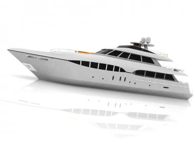 White pleasure yacht