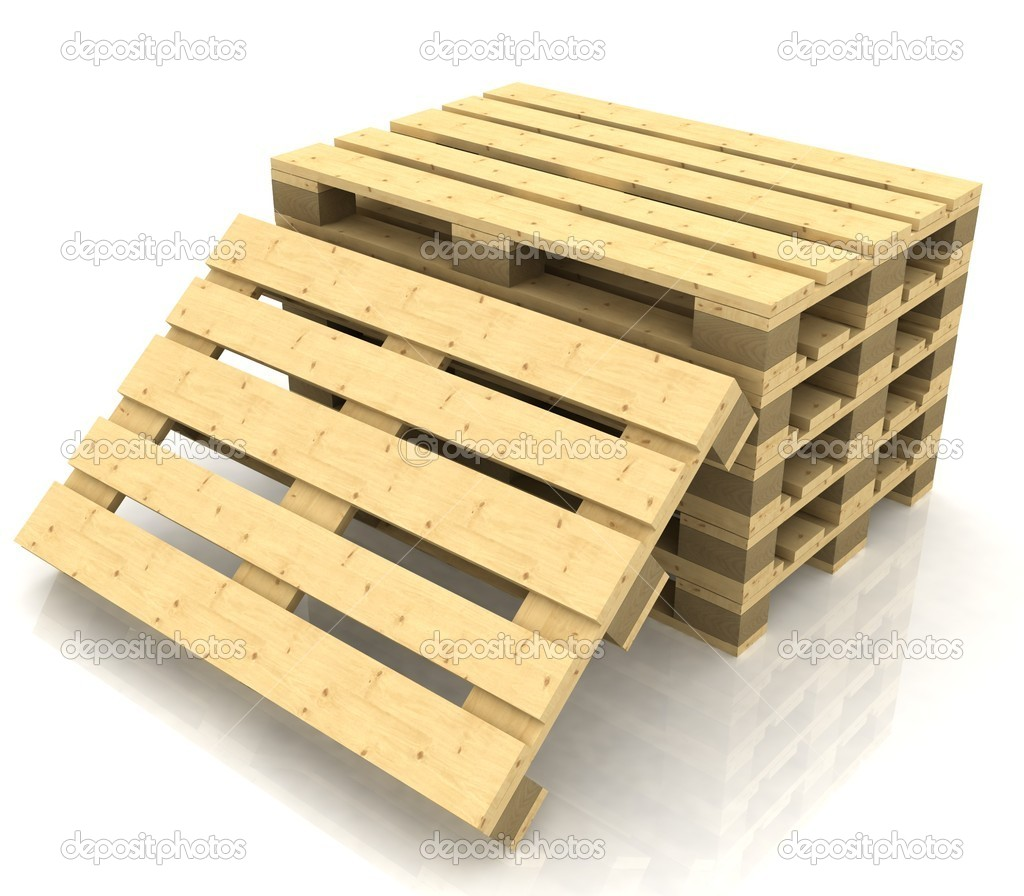 wooden pallets. wooden pallets on the white background \u2014 photo by 3ddock