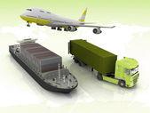 szállítás, szállító típusú rengeteg
