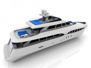 White pleasure yacht
