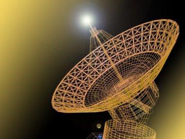 Satellite dish stock vector