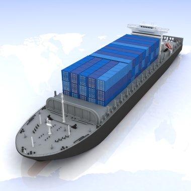 Cargo ship stock vector