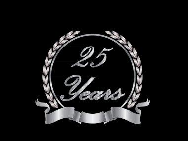 25th anniversary silver diamond