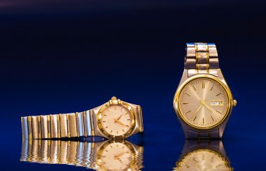 Lady's and man's watches
