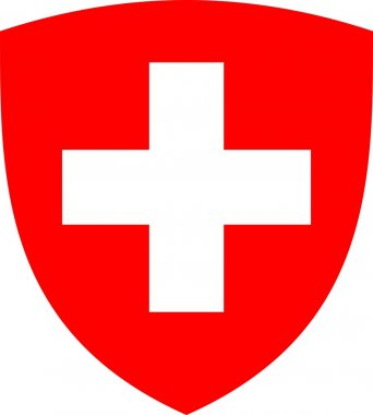 Swiss cross and shield