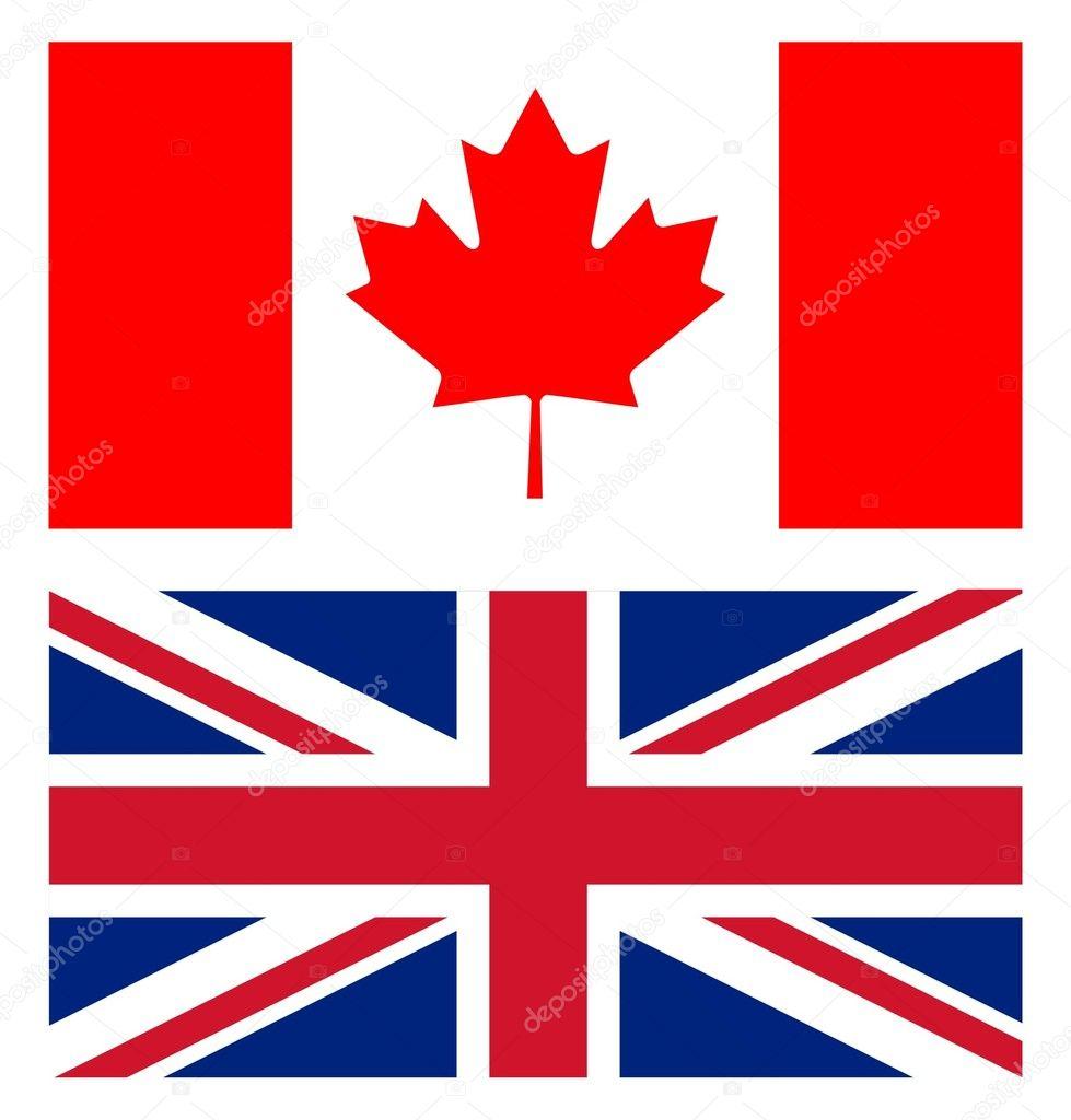 union jack and canadian flag u2014 stock photo multipla11 8487763