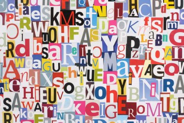Magazine Letters Collage