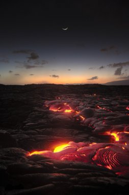Hawaii lava flow at Kilauea volcano