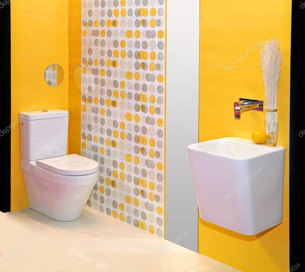 gele badkamer — Stockfoto © ttatty #10688018