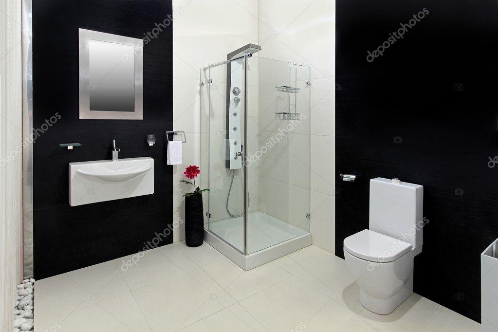 Bagno bianco nero u2014 foto stock © ttatty #9102298