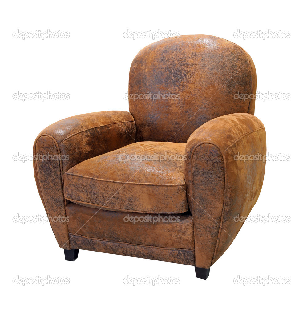 Old Leather Armchair Stock Photo 9835999