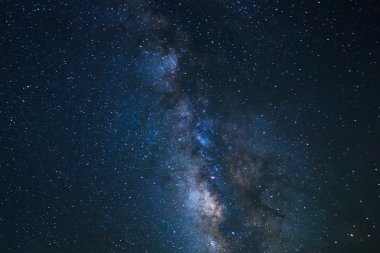 Night Sky, Bright Stars and Milky Way Galaxy