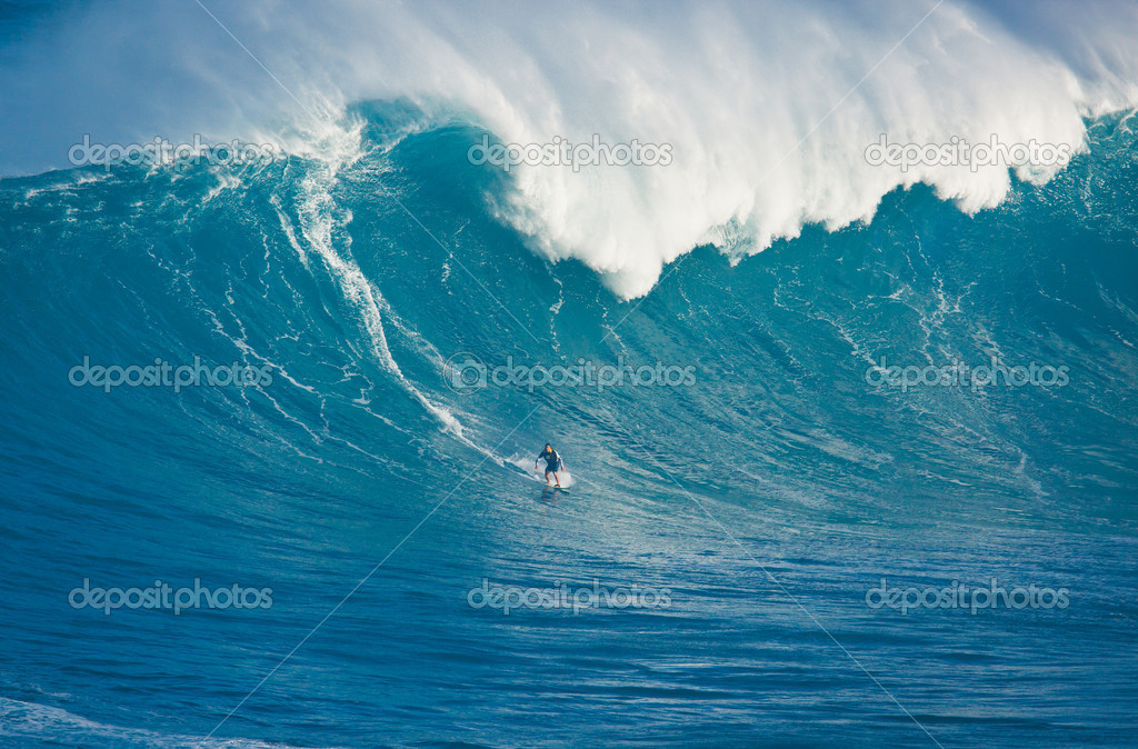 MAUI, HI - MARCH 13: Professional surfer Marcio Freire rides a g