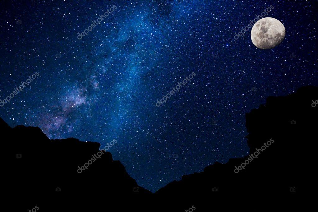 Stars in the Night Sky, Milky Way Galaxy