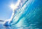 Fotografia onda blu oceano