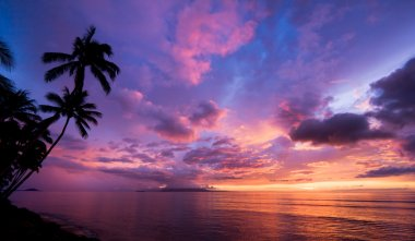 Amazing Sunset in Hawaii