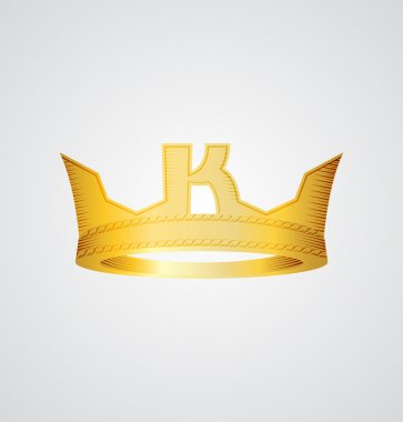 Gold crown with letter K in the front