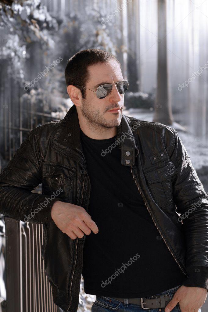 Leather Jacket Guy Stock Photo C Curaphotography 8501635